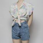 Vintage-Floral-Cotto-Shirt-with-80s-Denim-Shorts